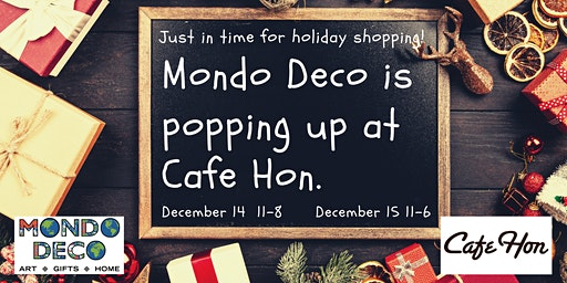 Holiday Pop-Up Gift Shop  @ Cafe Hon