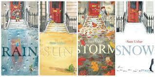 Children's illustrator & author, Sam Usher, in the bookshop