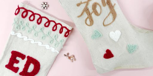 FREE: Make Your Own Monogram Stocking at SFG Club, Roof East!