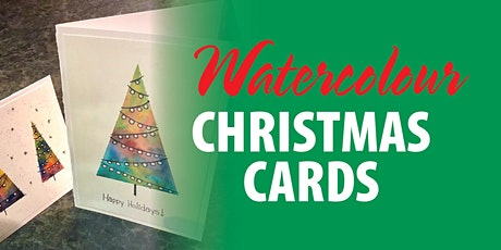 Watercolour Christmas Cards tickets