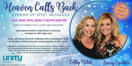Heaven Calls Back-Evening of Spirit Messages/Dallas