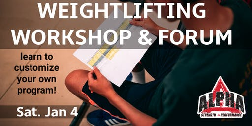 Weightlifitng Workshop & Forum