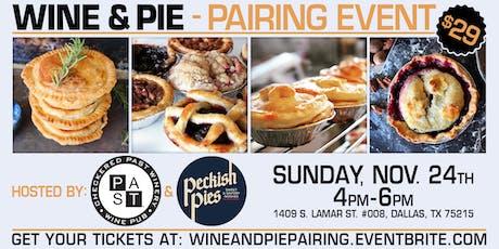 Wine & Pie Pairing tickets