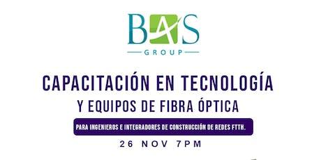 Capacitación eb Tecnología y Equipos de Fibra ´Óptica boletos