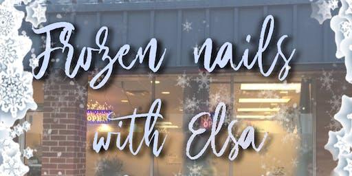 Frozen nails with Elsa at Shimmer Spa
