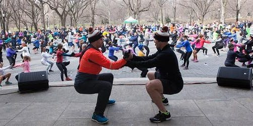 Sunday Morning Holiday IronStrength Workout in Central Park with Dr Metzl