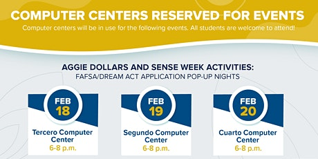 FAFSA/Dream Act Application Pop-Up Nights tickets