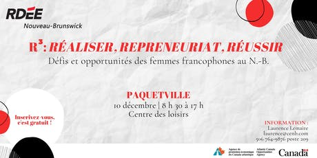 R3 : Réaliser, repreneuriat, réussir - Paquetville billets