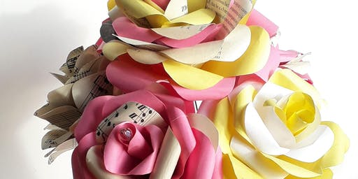Paper Rose Posy Workshop. Learn to make a paper rose.