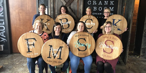 Bourbon Barrel Head Paint Party
