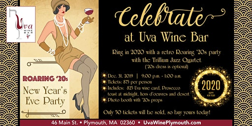Roaring '20s New Year's Eve Party at Uva Wine Bar