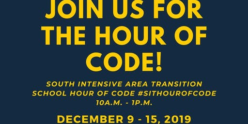 South Intensive Area Transition School - Hour of Code #HourOfCode