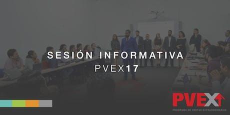 SESIÓN INFORMATIVA PVEX 17 boletos