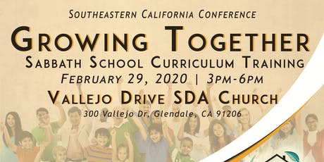 Growing Together SS Training: Vallejo Drive SDA tickets