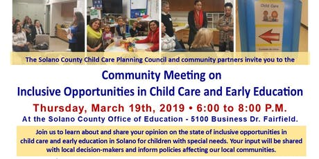 Inclusive Opportunities in Child Care and Early Education tickets