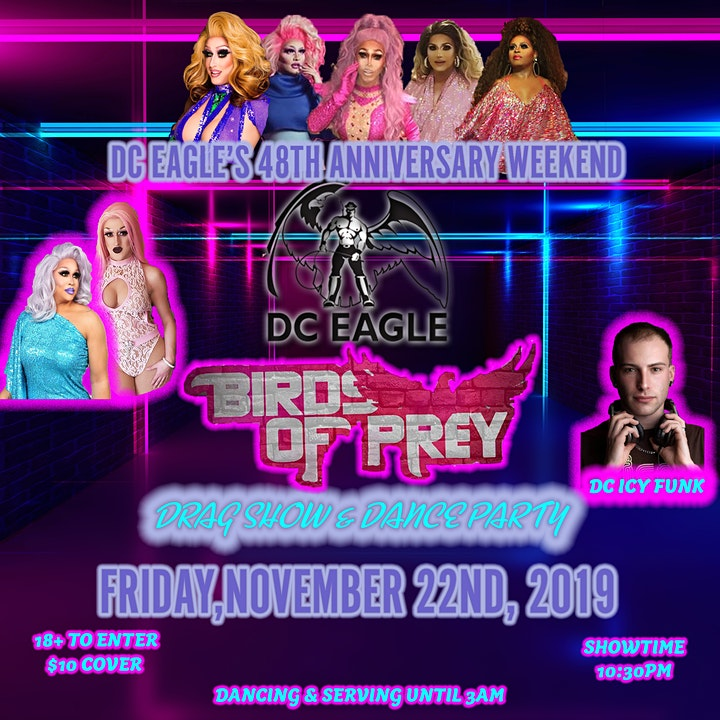Our 48th Anniversary - FRIDAY - Birds of Prey Drag Show & Dance Party image