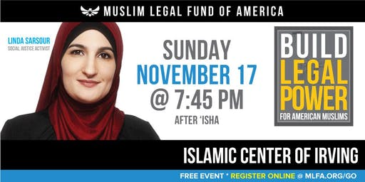 Build Legal Power for American Muslims with Linda Sarsour -  Irving, TX