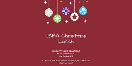 Jersey Small Business Alliance Christmas Lunch + Drinks 2019 tickets