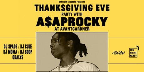 Thanksgiving Eve Party with A$AP Rocky tickets