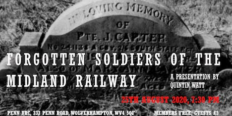 Forgotten Soldiers of the Midland Railway tickets