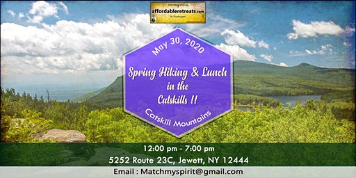 Spring Hiking & Lunch  in the  Catskills !!
