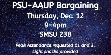 PSU-AAUP Bargaining - December 12 tickets