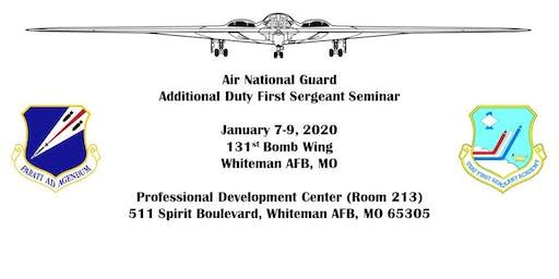 Whiteman AFB Air National Guard Additional Duty First Sergeant Seminar