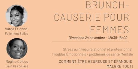 Brunch Causerie pour femmes avec Varda Étienne et Régine Coicou billets