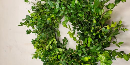 Boxwood Wreath Class