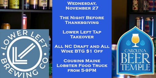 Thanksgiving Eve Tap Takeover and Food Truck