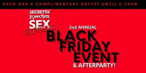 2nd Annual Black Friday Event Sponsored by Secrets of the Opposite Sex App