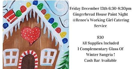 Gingerbread House Paint Night tickets