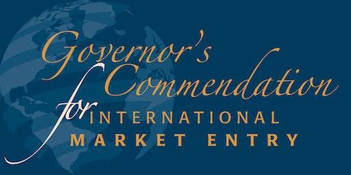 Governor's Commendation for International Market Entry Awards -RSVP