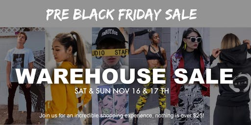 Up to 60% off Warehouse Sale of Dope & Fresh Style/Pre-BlackFriday sale