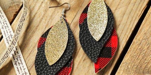 DIY Faux Leather Earring Workshop