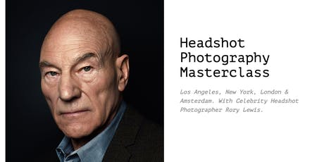 Two Day Headshot Photography Masterclass London With Celebrity Photographer Rory Lewis tickets
