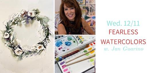 Fearless Winter Watercolors @ Nest on Main w. Jan Guarino- Wed. 12/11