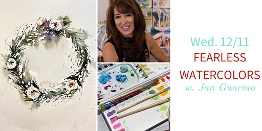 Fearless Winter Watercolors @ Nest on Main w. Jan Guarino- Wed. 12/11