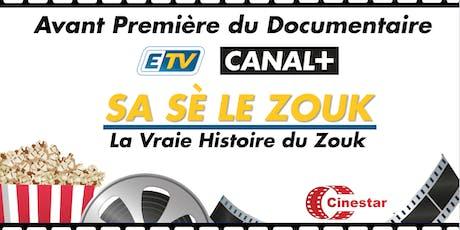 Projection du documentaire Sa Sè Le ZOUK : La vraie histoire du zouk billets