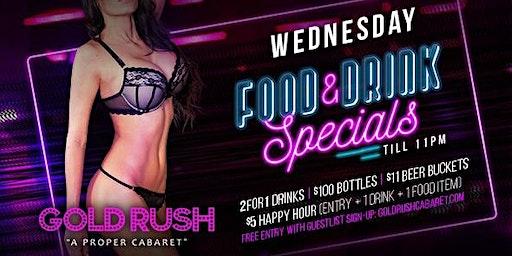 Gold Rush Wednesdays at Gold Rush Cabaret Guestlist - 12/18/2019