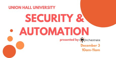 Union Hall University: Automation & Security tickets