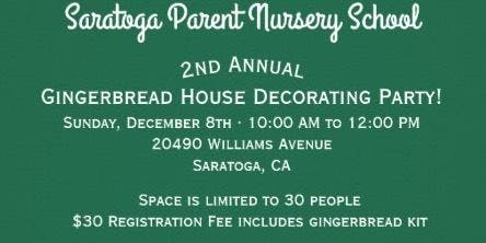 Gingerbread House Decorating Party for Preschoolers