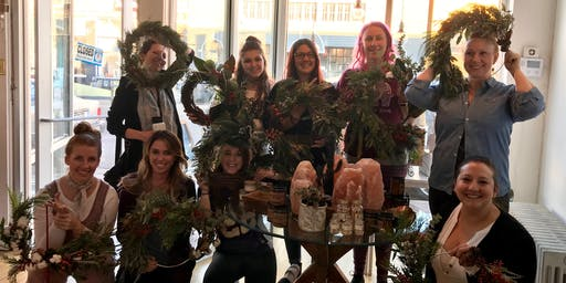 Holiday Wreath Workshop hosted by Birch & Bramble