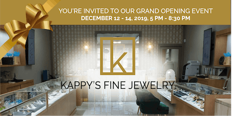 Kappy's Jewelry Grand Opening Event tickets