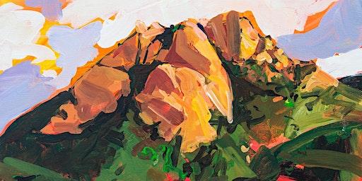 Painting Hollister Peak @ Art Central