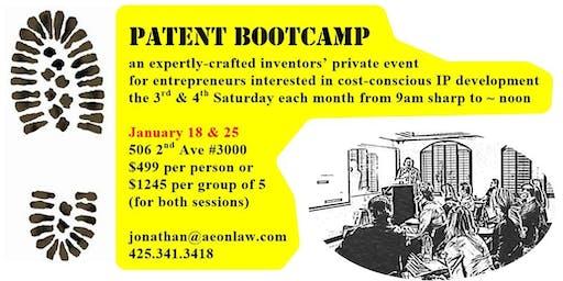 January Seattle Patent Bootcamp