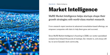 Learn How To Get The Most from MaRS Market Intelligence Services tickets