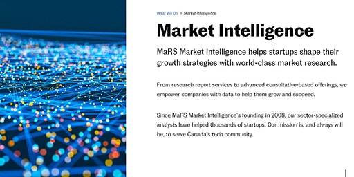 Learn How To Get The Most from MaRS Market Intelligence Services
