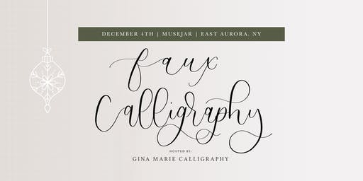 Faux Calligraphy/ Handlettering Workshop 101