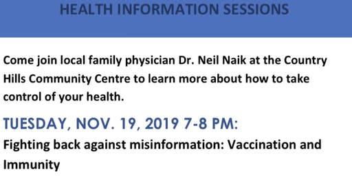 Your Health Made Simple, Health Information Session